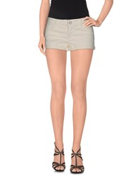 E Go Denim Denim Shorts Women Ivory