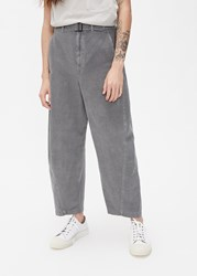 Christophe Lemaire 'S Linen Gabardine Twisted Chino Pant In Stone Grey Size 46 Cotton Linen