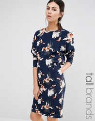 Y.A.S Tall Orchid Floral Long Sleeve Dress Multi