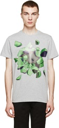 Christopher Kane Heather Grey Explosion T Shirt