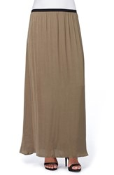 Catherine Malandrino Women's Cole Hammered Charmeuse Maxi Skirt