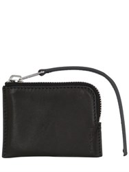 Rick Owens Leather Zipped Small Pouch