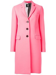 Paul Smith Ps By Contrasting Collar Detail Coat Pink Purple