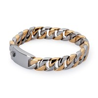 Kavalri Artillery Steel Bracelet Silver And Gold 22.5 Cm