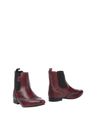Pepe Jeans Ankle Boots Maroon