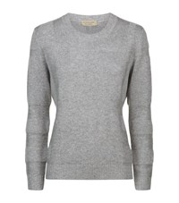 Burberry Check Knit Wool Cashmere Jumper Female Grey