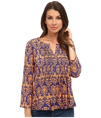 Kas Lela Pleated Printed Blouse Multi Women's Blouse
