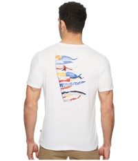 Nautica Short Sleeve Sail Flags Crew Bright White T Shirt