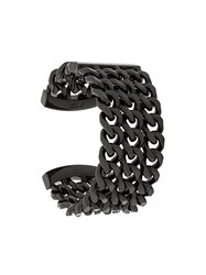 Karl Lagerfeld Triple Chain Cuff Black
