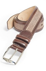Men's Big And Tall Mezlan Suede Belt Brown Taupe