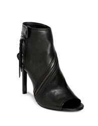 Dolce Vita Hal Leather Stiletto Heel Boots Black