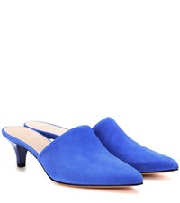 Maryam Nassir Zadeh Andrea Suede Mules Blue