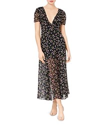 Betsey Johnson Cherry Print Maxi Dress Black Multi