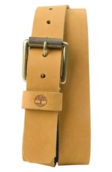 Timberland Men's Leather Belt Wheat