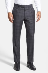 Duckie Brown Gentlemen Flat Front Check Wool Trouser