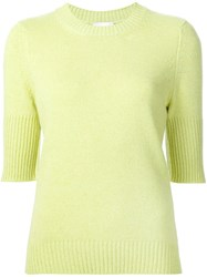 Barrie Ribbed Slim Fit Jumper Green