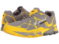 Columbia Trans Alps F.K.T Light Grey Electron Yellow Men's Running Shoes Gray