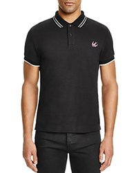 Mcq By Alexander Mcqueen Mcq Swallow Tipped Slim Fit Polo Shirt Black