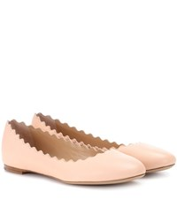 Chloe Lauren Leather Ballerinas Pink