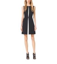 Michael Kors Pleated Party Dress Black