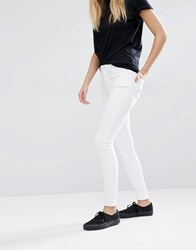 Weekday Body High Waist Super Skinny Jeans With Stretch White Satin