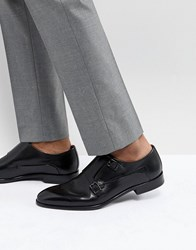 Hugo Leather Monk Shoes In Black 001