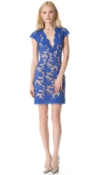 Reem Acra Lace Cocktail Dress Blue Royal