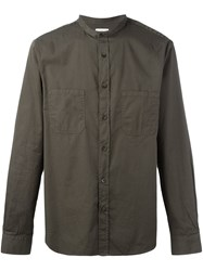Hope Mandarin Neck Shirt Green