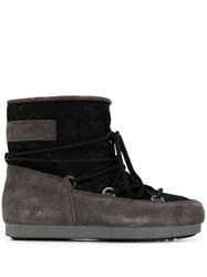 Moon Boot Two Tone Padded Boots Black