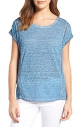 Vince Camuto Women's Two By Linen Tee Night Dive