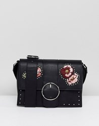 Stradivarius Embroidered Cross Body Bag Multi