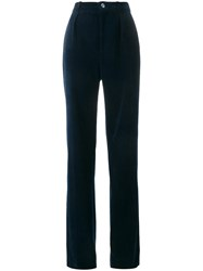 Gucci Straight Leg Corduroy Trousers Blue