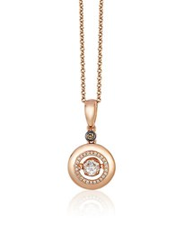 Le Vian 14K Rose Gold Chocolate And Vanilla Diamond Pendant Necklace