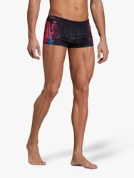 Adidas Pro 3 Stripes Graphic Swim Boxers Black Shock Red