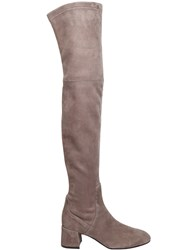 Attilio Giusti Leombruni 50Mm Stretch Suede Over The Knee Boots