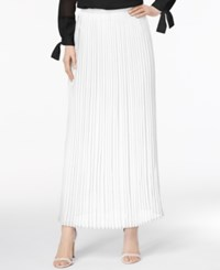 Cable And Gauge Cupio By Pleated Maxi Skirt White