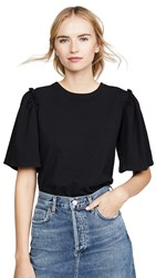 Citizens Of Humanity Vera Gathered Shoulder Top Black