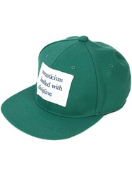 Undercover Printed Patch Cap Men Cotton One Size Green