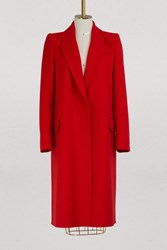 Alexander Mcqueen Wool And Cashmere Coat 6610 Lust Red