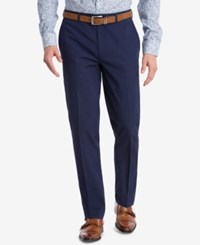 Bar Iii Slim Fit Active Stretch Navy Stripe Seersucker Suit Pants Blue