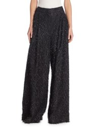 Brunello Cucinelli Feathered Wide Leg Pants Volcano