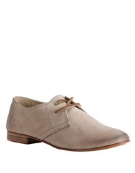 Frye Jillian Leather Oxfords Beige