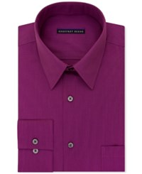 Geoffrey Beene Men's Classic Fit Wrinkle Free Bedford Cord Dress Shirt Dark Pink