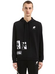 Damir Doma Oversize Hooded Cotton Jersey Sweatshirt Black