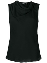 Emporio Armani Gathered Tank Top Black