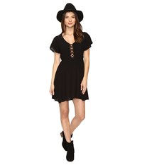 Volcom Goldn Lantern Dress Black Women's Dress