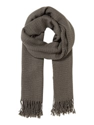 Therapy Metallic Weave Scarf Grey