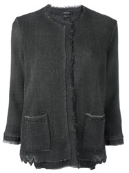 Avant Toi Single Breasted Cardigan Grey