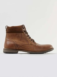 Topman Tan Leather Cuff Boots Brown