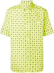 Kenzo Floral Short Sleeved Shirt Yellow